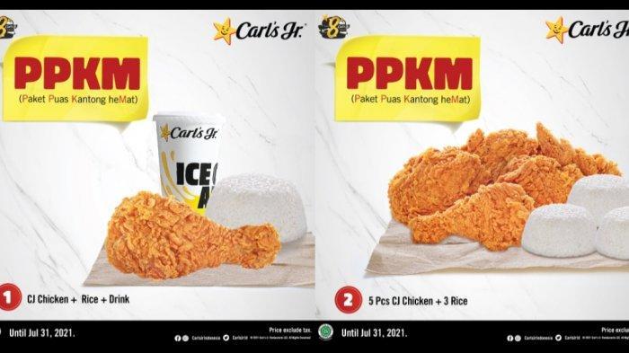 Carl's Jr. Hadirkan Paket Promo PPKM, Bisa Makan Enak di Rumah: Harga Mulai Rp22 Ribu