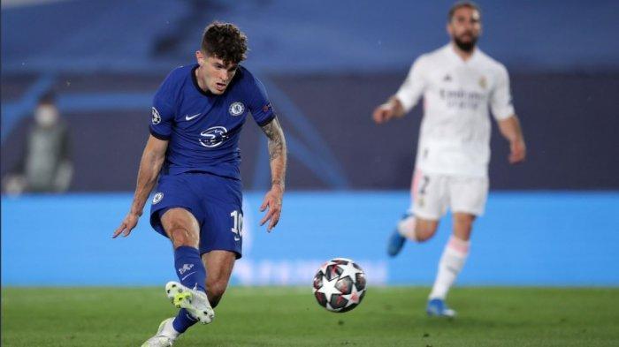 Christian Pulisic mencetak gol pada pertandingan leg pertama semifinal Real Madrid vs Chelsea