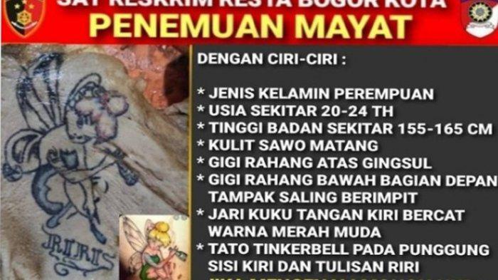 Ditemukan Dalam Bagasi Mobil di Bogor, Kasus Mayat Wanita Tato Tinker Bell di Punggung Masih Buntu
