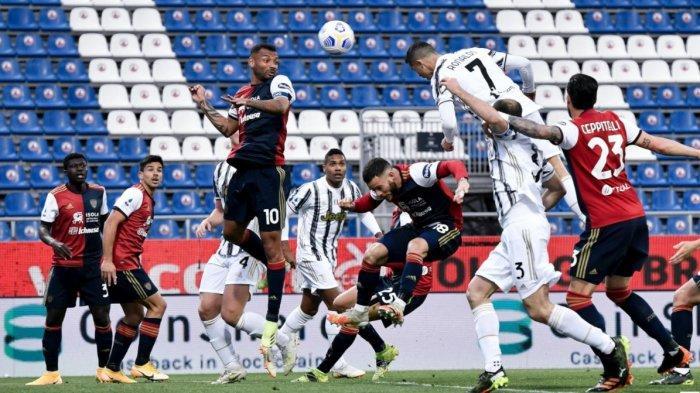 Hasil Liga Italia: Juventus Menang Telak di Kandang Cagliari, Cristiano Ronaldo Cetak Hat-trick
