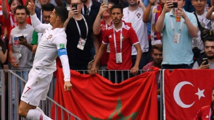 Tandukan Cristiano Ronaldo Jadikan Maroko Tim Pertama yang Tersingkir di Piala Dunia 2018