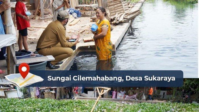 Pj Bupati Bekasi Dani Ramdan saat melakukan pemantauan langsung kondisi Kali Cilemahabang, Senin (6/9/2021).