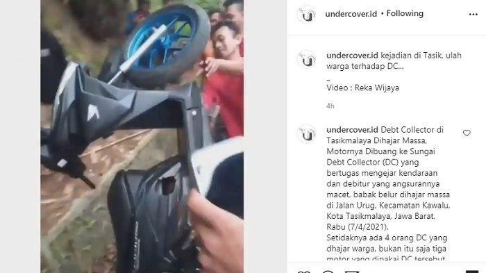 Tagih Angsuran, 4 Orang Debt Collector Dipukuli Massa di Tasikmalaya, 3 Motornya Dibuang ke Sungai