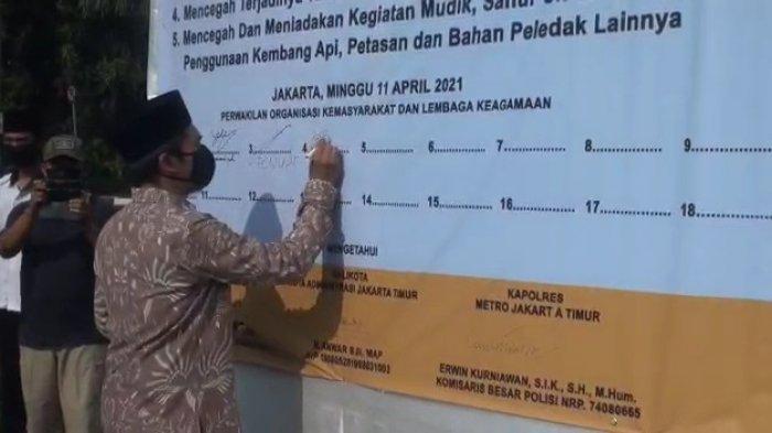 Jaga Jakarta Timur Tetap Damai, Petugas Gabungan Hingga Ormas Gelar Deklarasi Aman Jelang Ramadan