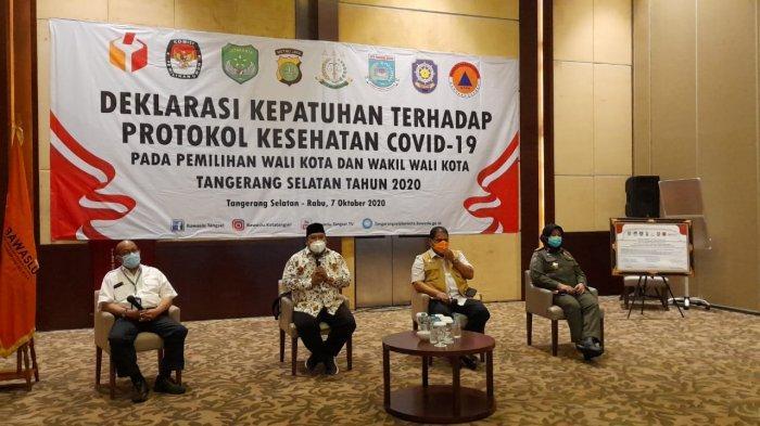 Bawaslu Tangerang Selatan Ingatkan Paslon, Kampanye Tak Peduilikan Protokol Kesehatan Dibubarkan