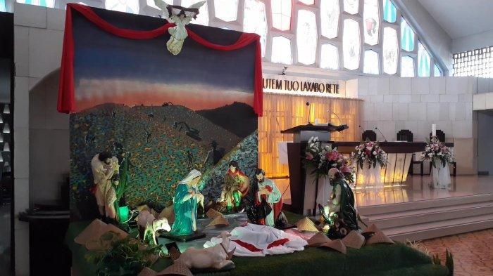 Perayaan Natal di Gereja Santo Barnabas Didekorasi dengan Penuh Kesederhanaan