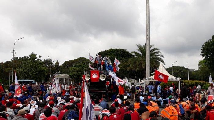 RUU Cipta Kerja Resmi Disahkan DPR, Ini Pengalihan Lalin di Sekitar Senayan Antisipasi Aksi Buruh