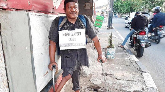 Cerita Deni, Keliling Cari Bantuan Untuk Beli Kursi Roda: Tidak Mau Disebut Pengemis