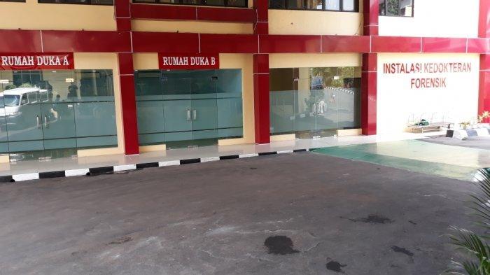 Tampak Instalasi Forensik RS Polri Kramat Jati yang jadi lokasi identifikasi jenazah di Jakarta Timur, Rabu (8/9/2021).