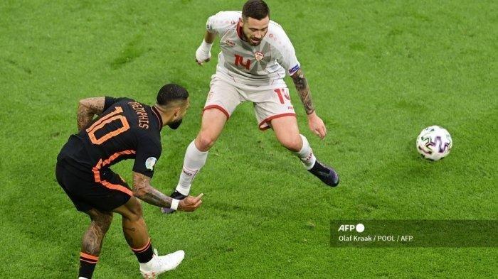 Hasil Piala Eropa Makedonia Utara Vs Belanda: Depay Tunjukan Kualitas, Oranje Sempurna di Babak Grup