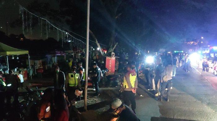 Rayakan Malam Tahun Baru di Depok, Petugas Bubarkan Kerumunan dan 39 Orang Jalani Rapid Tes Covid-19