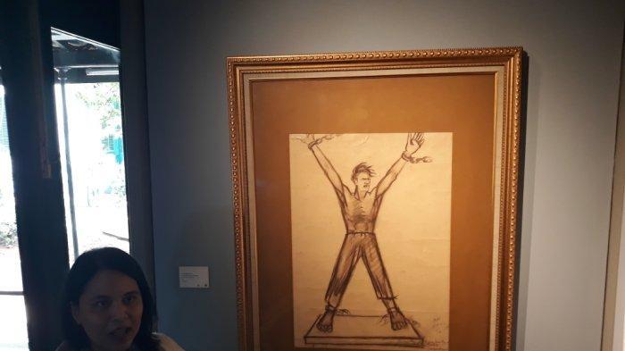Deretan Karya Seniman Henk Ngantung Dipamerkan di Museum Seni Rupa dan Keramik