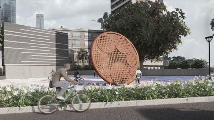 Direncanakan Rampung Mei 2021, Begini Desain Tugu Sepeda Buatan Anies Baswedan Seharga Rp800 Juta