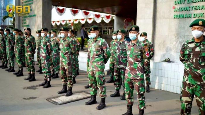 2 Bulan di Garda Depan 'Perang' Lawan Covid-19, Ratusan Prajurit TNI Kini Kembali ke Barak