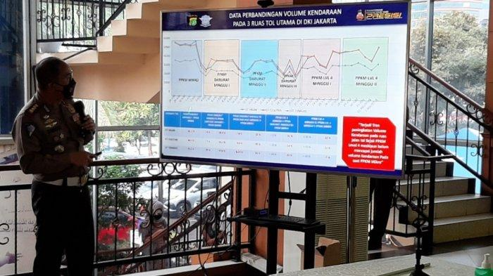 Hingga PPKM Level 4 Pekan Kedua, Volume Kendaraan di 3 Gerbang Tol Arah Jakarta Menurun