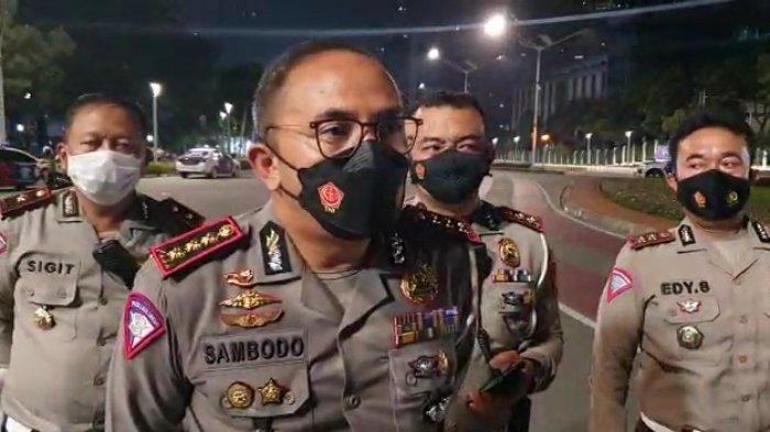 Dirlantas Polda Metro Jaya, Kombes Pol Sambodo Purnomo Yogo saat ditemui wartawan pada Minggu (12/9/2021).
