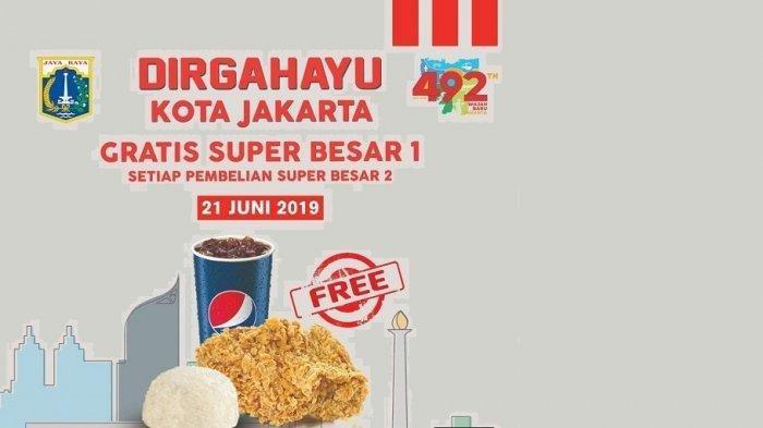 Deretan Promo Diskon Makan, Masuk Wahana Hiburan Sampai 'Sale' Sepatu Sambut HUT ke-429 Kota Jakarta