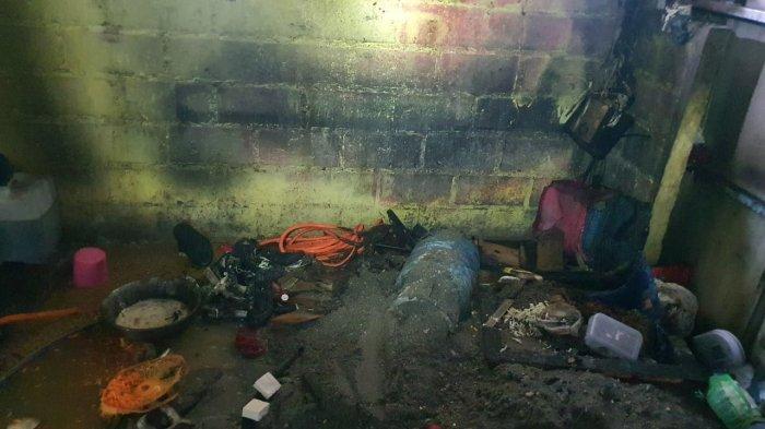 Tabung Gas Bocor Saat Memasak, Sebuah Dapur di Bambu Apus Terbakar: Kerugian Ditaksir Rp 10 Juta