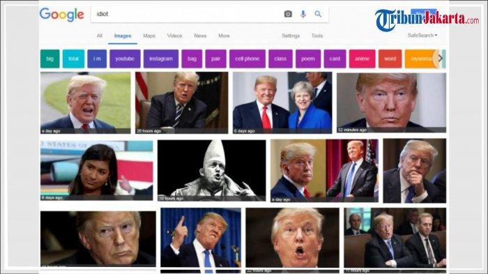 Foto Presiden AS Donald Trump Muncul Saat Ketik 'idiot' di Google Images