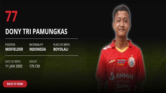 Gelandang muda Persija, Donny Tri Pamungkas memecahkan rekor sebagai pemain termuda yang melakukan debut di Liga 1 2021.