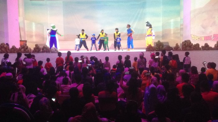 Aksi Dragon Ball Z di Dufan Ancol Jakarta Utara.