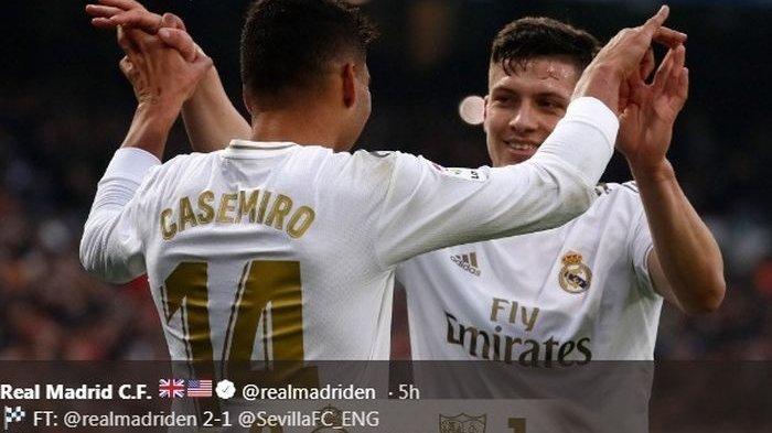 Hasil Liga Spanyol - Real Madrid Kalahkan Atletico Madrid dengan Dua Gol Tanpa Balas
