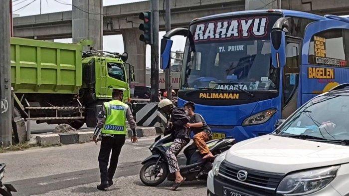 Hindari Polisi Coba Kabur Saat Akan Ditilang, Bocah SMP di Tanjung Priok Hampir Tertabrak Bus