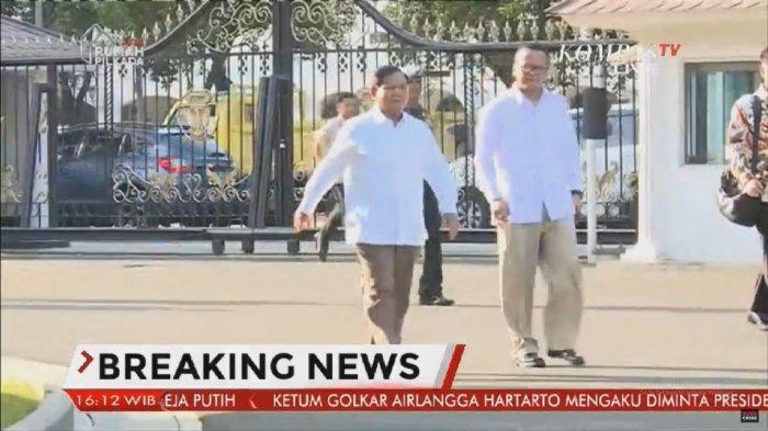 Bersama Edhy Prabowo Diundang Jokowi, Pakaian Prabowo Subianto Disorot Pengamat: Jadi Menteri?
