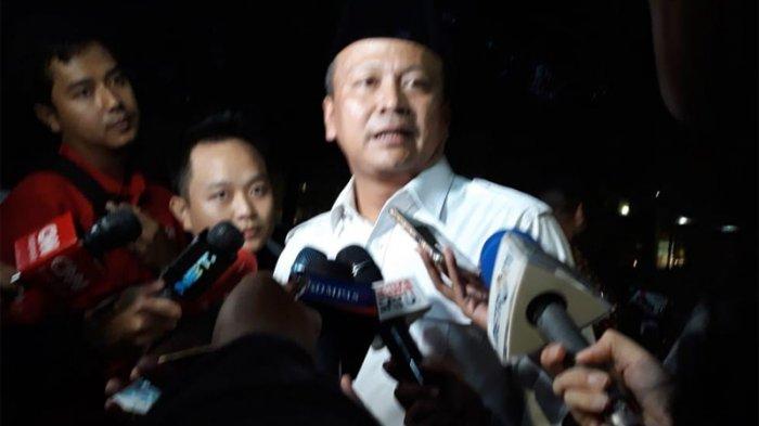 Waketum Gerindra Edhy Prabowo ditemui di rumah Prabowo Subianto di Jalan Kertanegara, Jakarta Selatan, Jumat (10/8/2018).