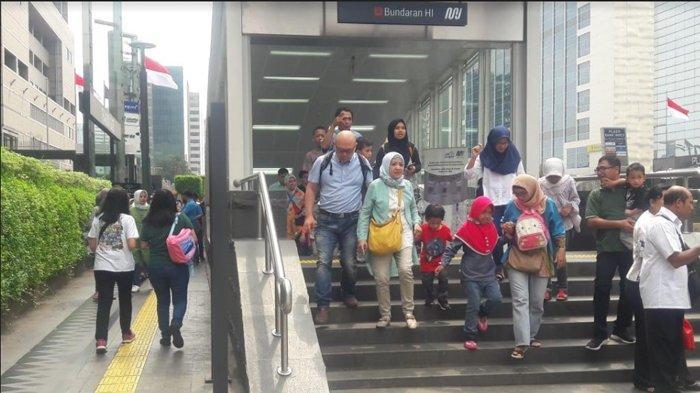 Jadi Transportasi Favorit Warga Jakarta, Penumpang MRT Meningkat Usai Lebaran