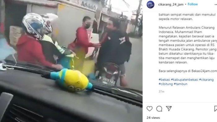 VIRAL Relawan Escorting di Cikarang Diadang dan Diludahi Pemotor saat Kawal Ambulans Bawa Pasien