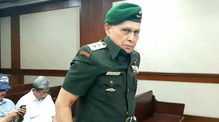 Sidang Pembacaan Eksepsi, Kivlan Zen Pakai Seragam TNI Angkatan Darat
