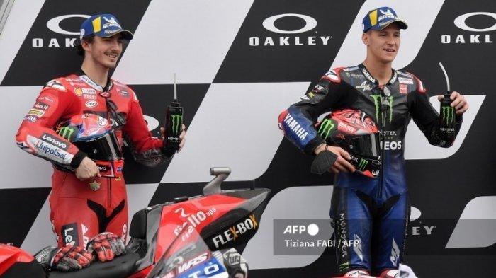 Jelang Penentuan Juara Dunia MotoGP 2021, Francesco Bagnaia Sebut Fabio Quartararo Sedang Tertekan