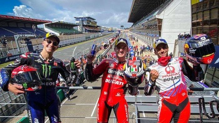 Jadwal MotoGP 2021 Seri 6 MotoGP Italia, Fabio Quartararo Dikepung Tiga Pembalap Ducati