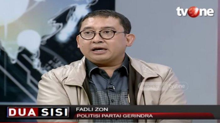 Lantang Kritisi soal Staf Khusus Milenial, Fadli Zon Ditegur Presenter: Tak Dijewer Pak Prabowo?