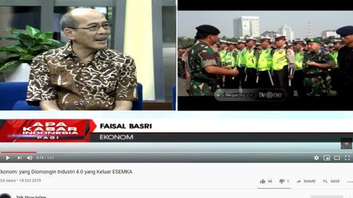 Beberkan 6 Menteri Terburuk, Faisal Basri Sebut Nama Luhut Pandjaitan: Semua Urusan Diambil Alih