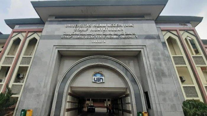 Fasad Rektorat UIN Jakarta, Ciputat, Tangsel, Rabu (28/4/2021).