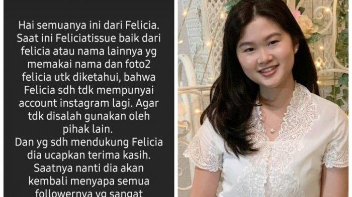 Felicia Tissue Muncul Usai Putus dari Kaesang Pangarep, Meilia Lau Hubungi Pakar dari Singapura
