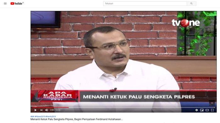 Komentari Saksi BPN di Sidang MK, Ferdinand Hutahaean: Demokrat Tidak Perlu Harap-harap Cemas