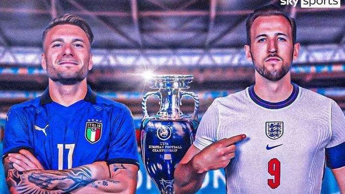 Nonton Siaran Langsung Final Euro 2020 Italia Vs Inggris, Live Pukul 02.00 WIB: Ini Cara Nontonnya