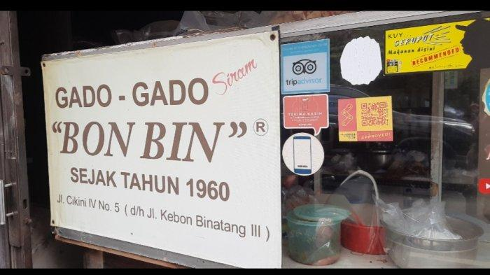 Gado-Gado Bon Bin, Kuliner Legendaris Cikini yang Selalu Jadi Buruan Pembeli