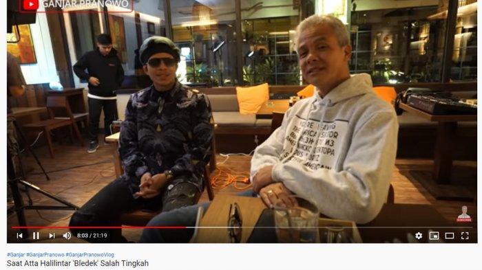 Atta Halilintar Beberkan Caranya Buat Konten di YouTube, Ganjar Pranowo Berkelakar: Kayak Politisi