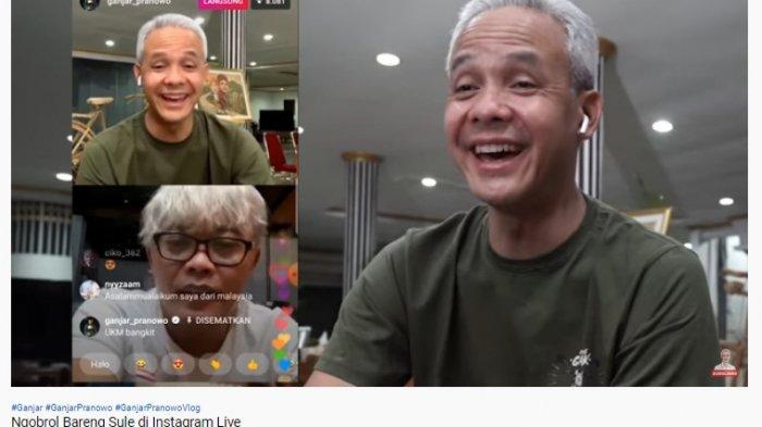 Live Instagram Bareng, Ganjar Pranowo Sontak Ngakak Dengar Kegiatan Sule Selama Pandemi