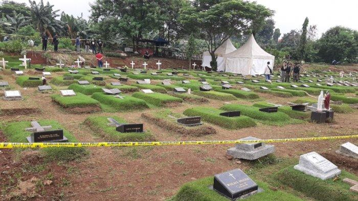 BREAKING NEWS Garis Polisi Terpasang, Makam Putri Karen Pooroe Dibongkar Jasadnya Diatopsi
