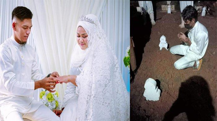 Viral Suami Antar Jenazah Istri Pakai Baju Pengantin, Baru Menikah 4 Bulan: Tunggu Aku di Sana