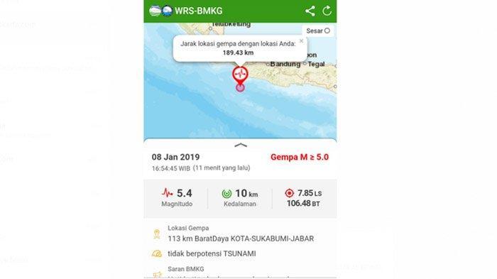 Sukabumi Diguncang Gempa 5,4 Magnitudo Terasa Hingga Bandung