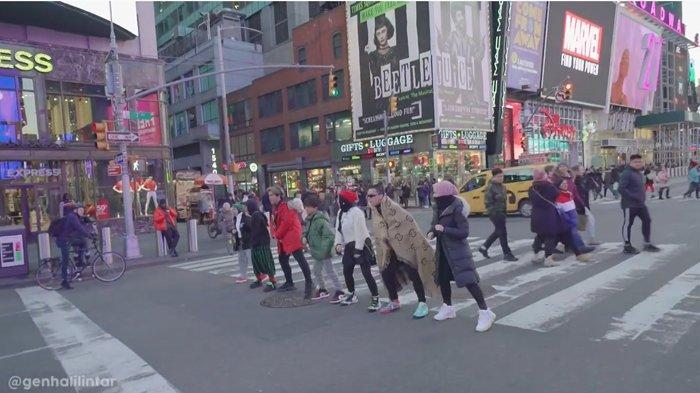 Gen Halilintar Nekat Nari di Lampu Merah Times Square, Saaih Halilintar: Apakah Urat Malu Kita Kuat?