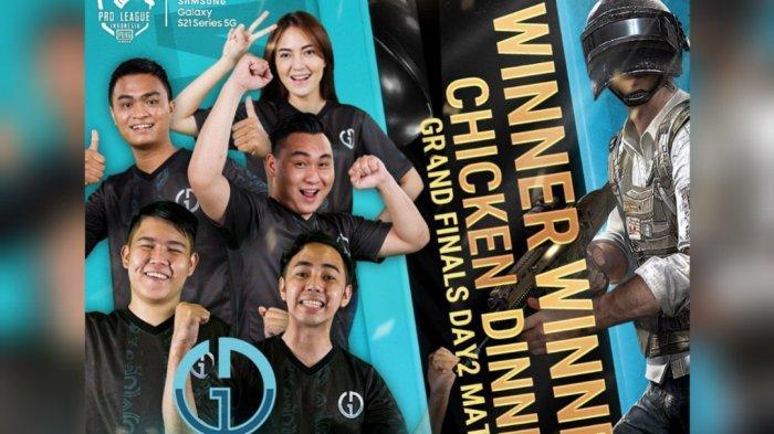 Genesis Dogma saat meraih WWCD di Grand Final PUBG Mobile Pro League PMPL Indonesia Season 3.