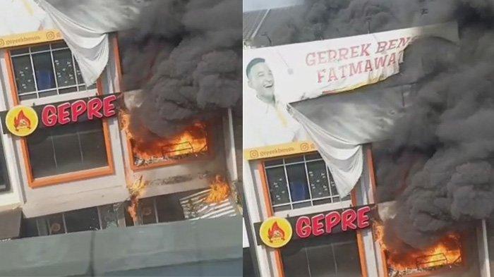 BREAKING NEWS: Gerai Geprek Bensu Fatmawati Kebakaran