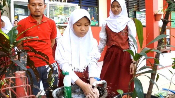 Cegah Virus Corona, Sekolah di Kota Tangerang Mulai Wajibkan Cuci Tangan